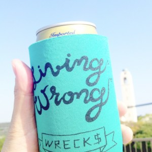 "WRECKS ""Living Wrong"" Koozie"